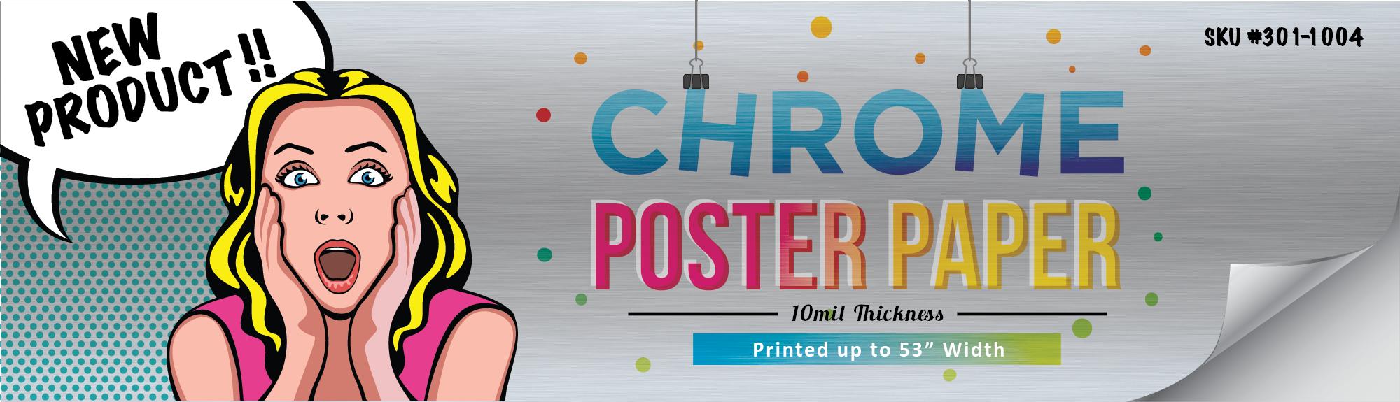 Chrome Poster Paper