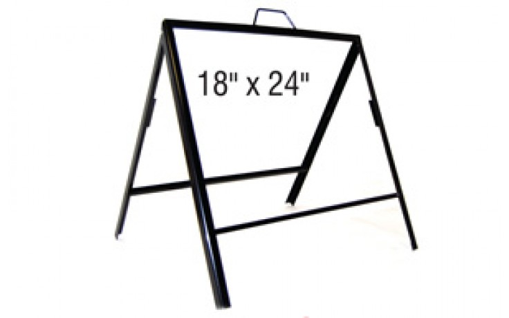 18x24 Double Panel Iron A Frame (AF1824)