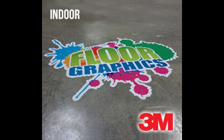 Floor Graphics Vinyl - Indoors (3M IJ40C) + Luster Lamination (3M 8509)