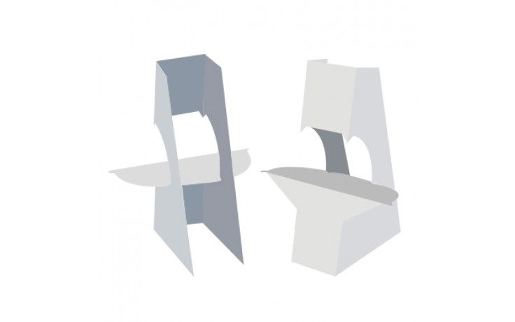 """Easel Back - 5"""" Double Wing with Tape"""