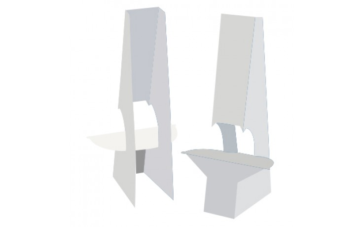 "Easel Back - 24"" Double Wing with Tape"