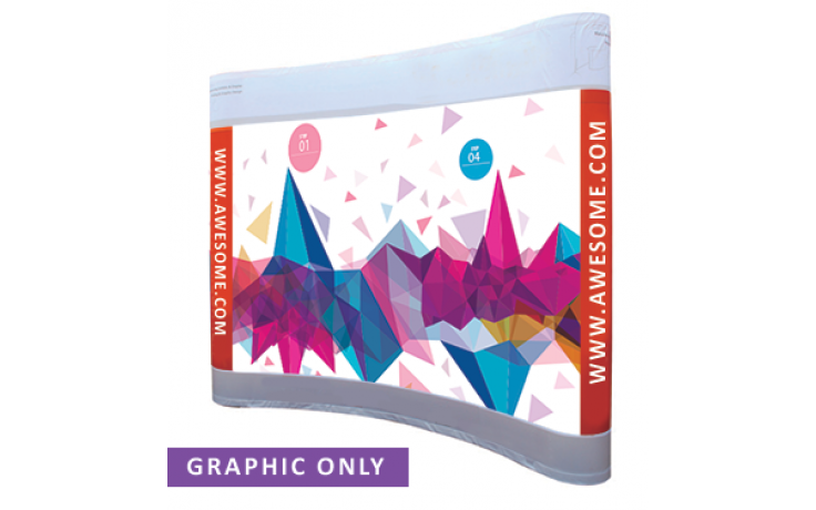 8x10 Curved Pop Up Display (Graphic Only)