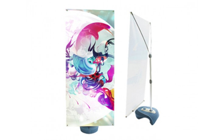 Outdoor X Stand with Single Side Graphics