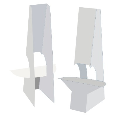 "Easel Back - 15"" Double Wing with Tape"