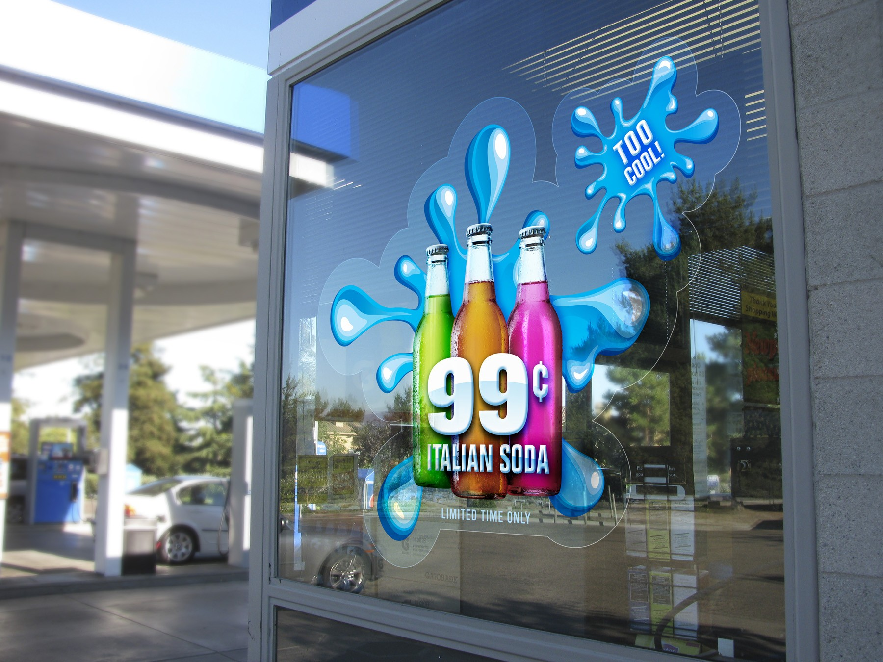 Fly Digital Print Wholesale Large Window Clings