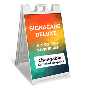 "Signicade Deluxe A Frame (24"" x 36"") with Graphics"
