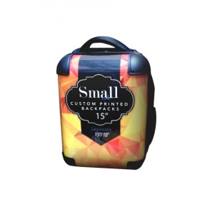 "Custom Printed Back Pack - 15"" Small"