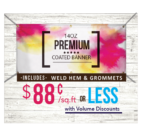 14oz Premium Coated Banner