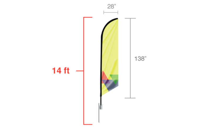Feather Angled Flag - Large / Single Side