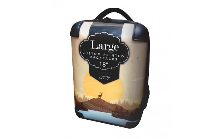 "Custom Printed Back Pack - 18"" Large"