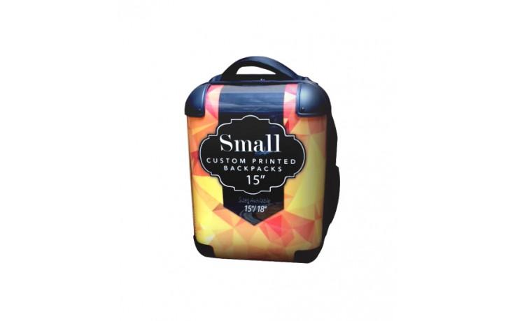 "Custom Printed Back Pack - 15"" Small"