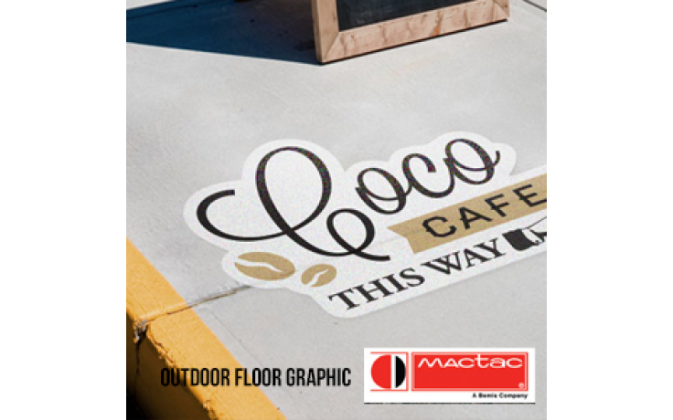 Concrete Floor Vinyl (Mactac Streetrap) + Lamination (MacTac Permacolor 6315)