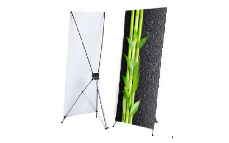 """X Stand - Large (48"""" x 78"""") with Graphics"""