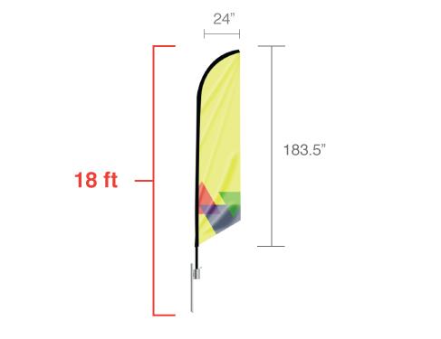 Feather Angled Flag - Extra Large / Single Side