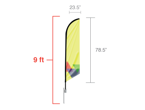 Feather Angled Flag - Small / Double Side
