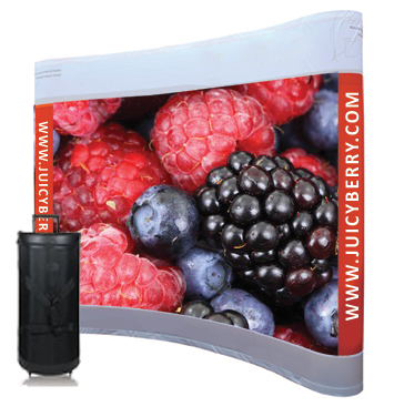 8x8 Curved Pop Up Display with Graphic (Dye Sublimated)