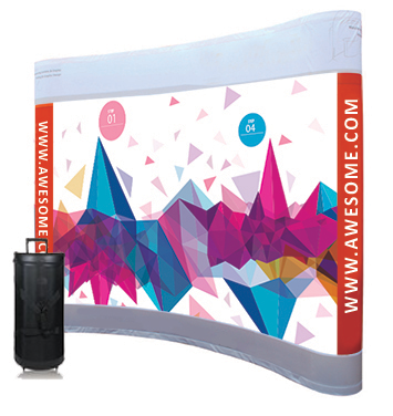 8x10 Curved Pop Up Display with Graphic (Dye Sublimated)