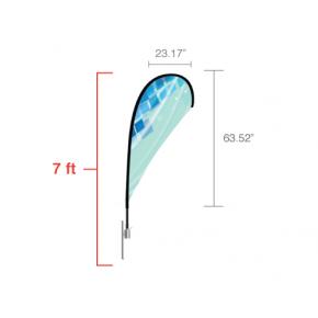 Tear Drop Flag - Small / Double Side