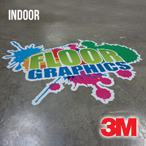 Floor Graphics Vinyl - Indoors (3M IJ40C) + Luster Lamination (3M 8509)