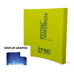 8FT Curved Pop Up Display (Graphic Only)