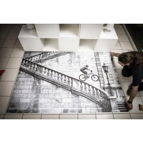 Easy Apply Print 'N Walk Dot Adhesive Floor Vinyl (Neschen)