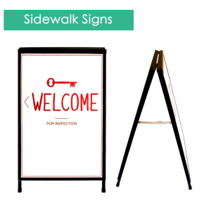"Sidewalk Signs A Frame (24"" x 36"") with Graphics"