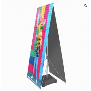 Outdoor X Stand with Double Side Graphics