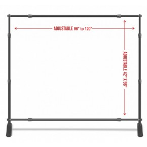 Adjustable Banner Stand 8x8, or 10x8 (black color with carry bag)